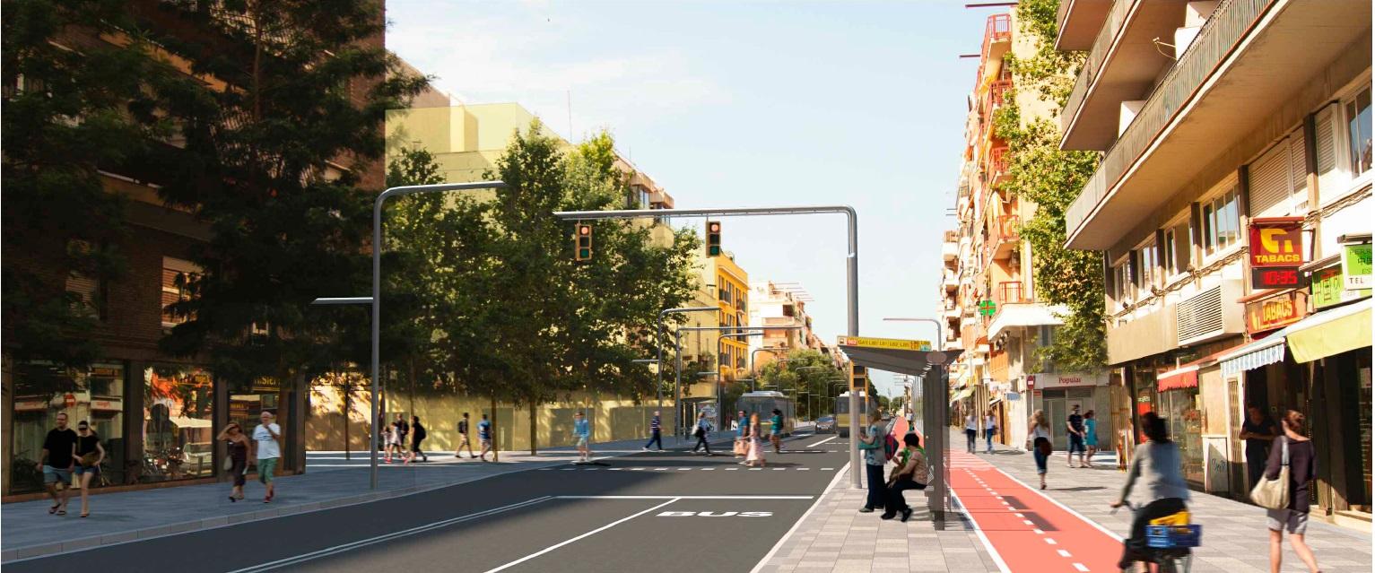 Nuevas intervenciones para la transformación de la C-245 en un paseo urbano